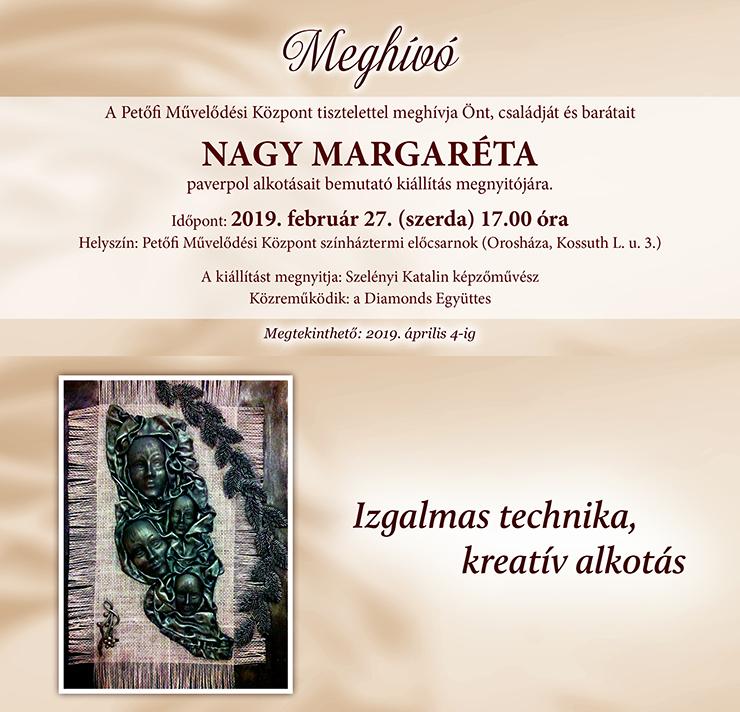 Nagy Margaréta kiállítása a PMK-ban @ Petőfi Művelődési Központ