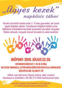 Ügyes kezek napközis tábor @ Petőfi Művelődési Központ
