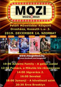 Mozgó Mozi decemberben is @ Petőfi Művelődési Központ színházterem