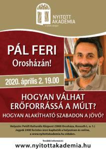 Nyitott Akadémia - Pál Feri Orosházán @ Petőfi Művelődési Központ színházterem