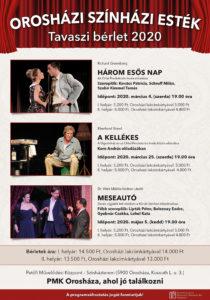 Orosházi Színházi Esték Tavaszi bérlet 2020 @ Petőfi Művelődési Központ színházterem