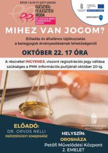 EFI előadás: Mihez van jogom? @ Petőfi Művelődési Központ